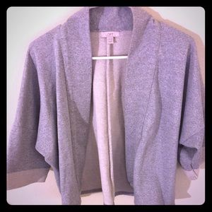 Loft Grey Kimono Wrap Cardigan